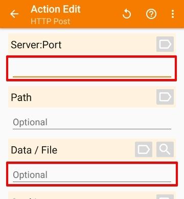 「Net」>「HTTP Post」の設定画面
