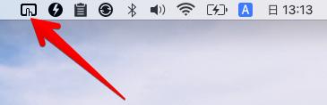 メニューバーのBetterTouchToolアイコン画像
