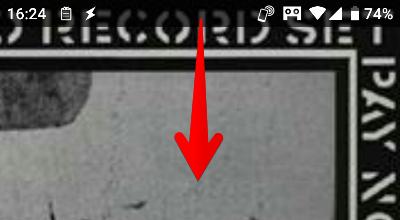 Androidスマホの画面上部の画像
