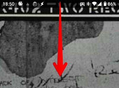 Androidスマホの上部の画像